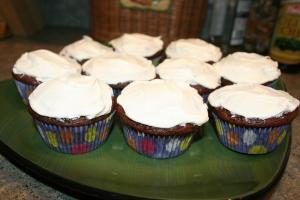 My brown Red Velvet Cupcakes